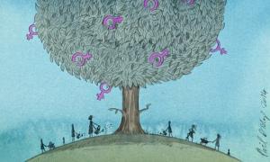 Phil Disley illustration for International Women's Day