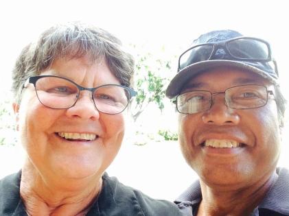 2014 Sept 18 Volunteers Nancy Gabriel w Romeo and Erika Schaffer