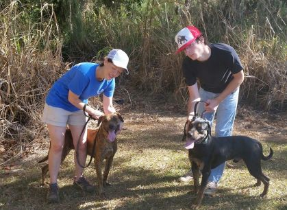 KHS Mack and Paxton RClub Kim and Stephen with some new pups, Paxton and Mack Feb 22 2015